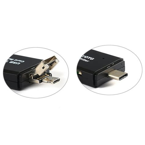 Usb Type C To Usb 3 00 Otg Merk Wk usb type c to usb to micro usb sd card reader otg adapter