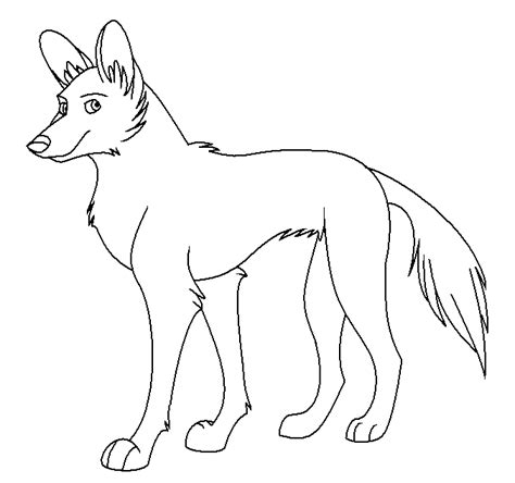 african wild dog coloring page animals town animal