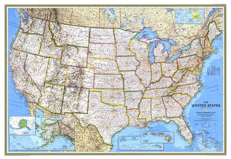 united states geographical map united states map 1993 maps