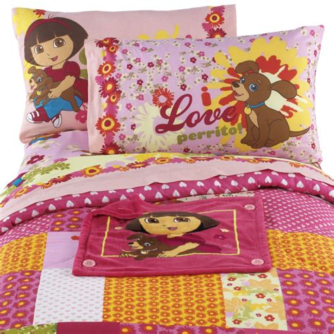 dora comforter nickelodeon dora and puppy twin full comforter with