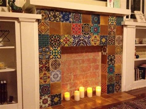 Tile Stickers For Fireplace by Fireplace Tile Decal