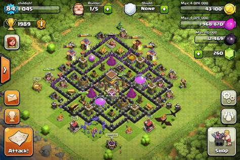 Coc Layout Th8 New | clash of clans th8 base layout hybrid