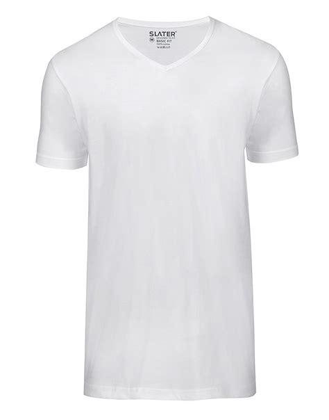 Bc Vneck Basic heren slater t shirt two pack basic fit v neck white