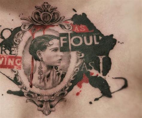women medallion tattoo by allen tattoo