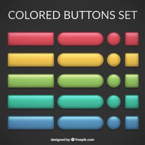 button background color colors buttons set vector free