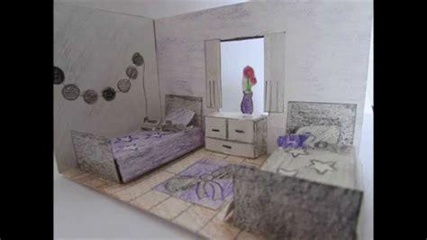 cr馥r chambre 3d creation d une chambre en 3d en papier