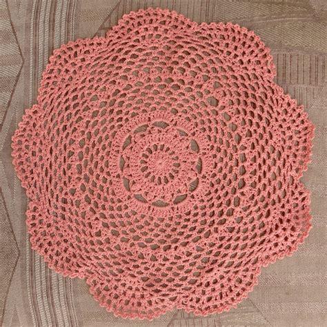 12 quot shaped handmade cotton crochet doilies roseate