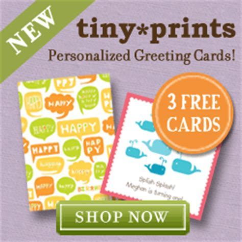 tiny prints cards tiny prints free year membership 3 greeting cards