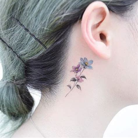 southpaw tattoo behind ear lovely ink for lovely people floral behind the ear