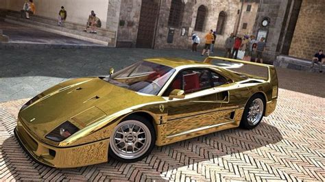 golden ferrari enzo outrageous gold ferrari f40 cool cars pinterest