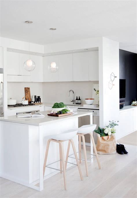 black white  wood kitchen  small kitchen design