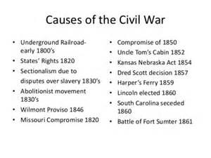 civil war causes it all