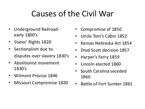 Cause Of The Civil War Essay by Civil War Causes It All