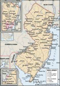 map of and its cities map of new jersey cities map travel