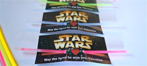 printable star wars valentines with glow stick star wars printable valentines lightsaber glow stick