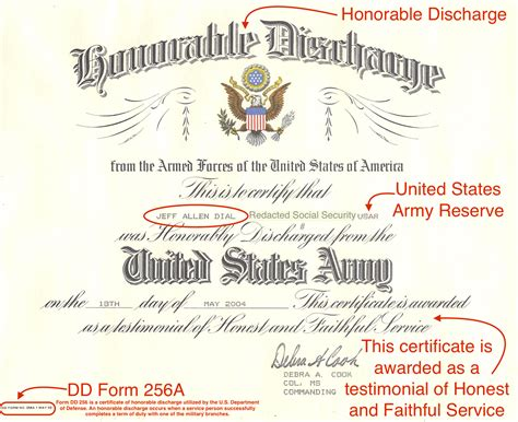 honorable discharge certificate template honorable discharge