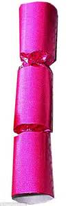 pink christmas crackers done up like a cracker with so glitzy they give the classic festive