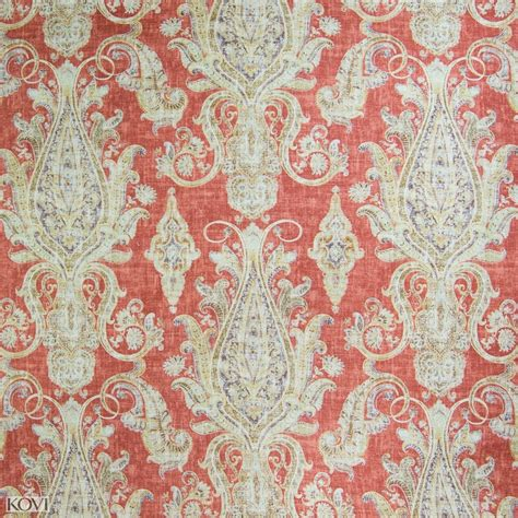 printable upholstery fabric tomato red scroll print upholstery fabric