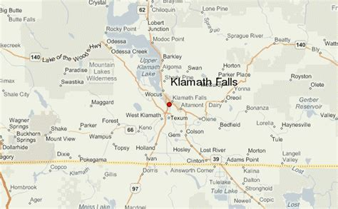 map of oregon falls klamath falls location guide