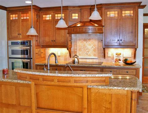 Dark Kitchen Cabinets With Backsplash by Craftsman Style Kitchen Traditional Kitchen By