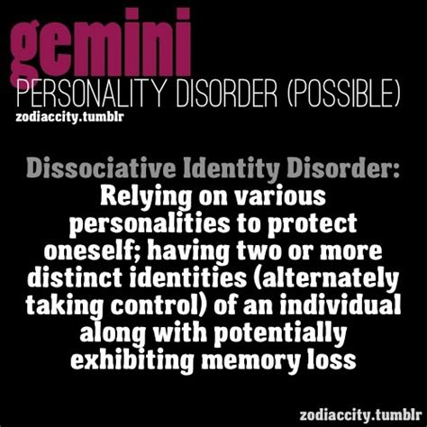 gemini potential personality disorder everyone who knows