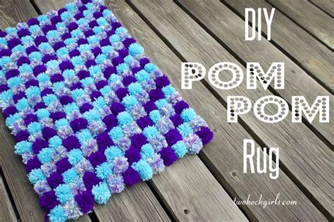 yarn pom pom rug two keck diy pom pom rug http twokeckgirls crafts i