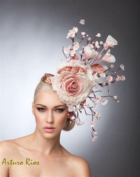Mini Headpiece Handmade Satin Cokelat 350 best millinery beautiful flowers images on fabric flowers craft flowers and