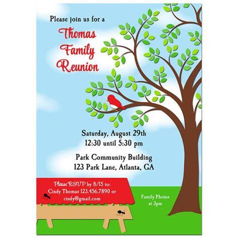 printable family reunion invitation cards family reunion picnic bbq park invitation printable or