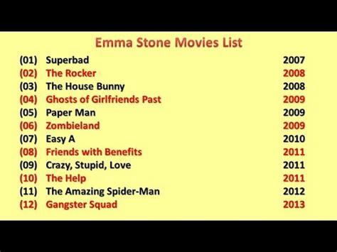 emma stone film arsivi emma stone movies list youtube