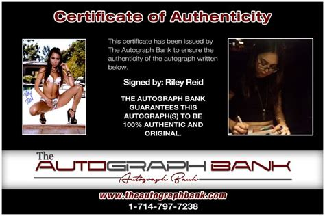 riley reid signed sexy xfree shipthe autograph bank