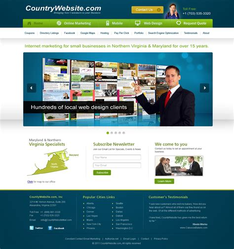 business web design homepage home page design peenmedia com