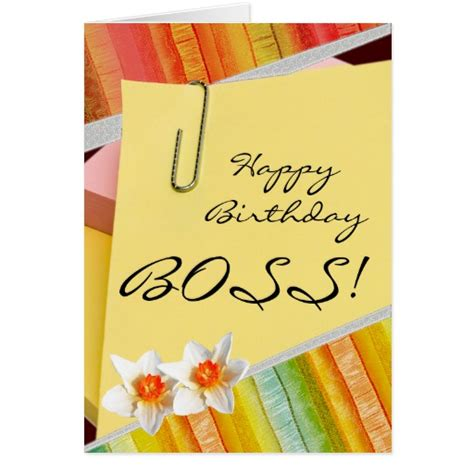 printable birthday cards boss happy birthday boss greeting cards zazzle