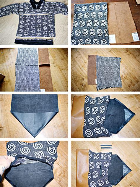Handmade Suitcase - diy sweater bag