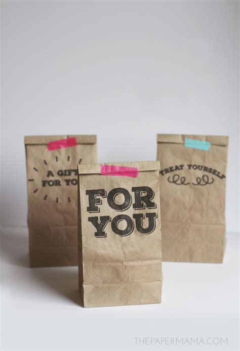 printable paper bags printable paper sack gift bags