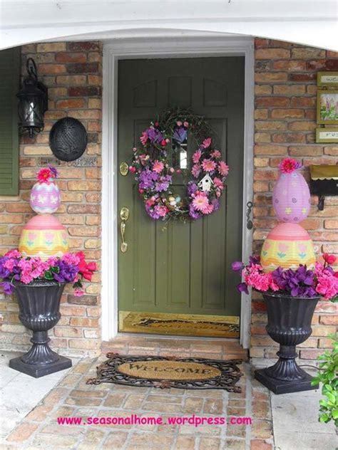 spring decorating ideas for your front door 29 cool diy outdoor easter decorating ideas amazing diy