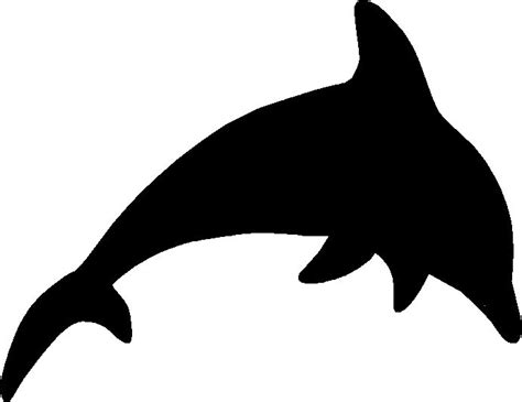 animal silhouettes templates dolphin5 gif 691 215 533 pixels templates