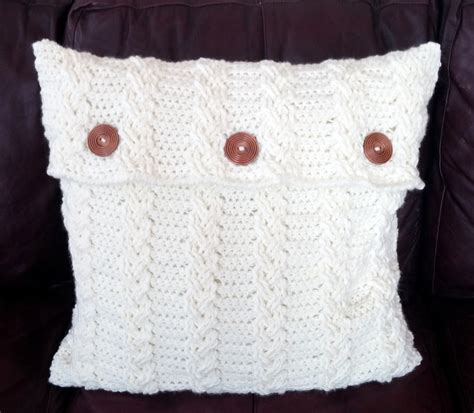 Pillow Cover Patterns by 3 Crochet Pattern Pdfs Pillow Covers Braided Cable