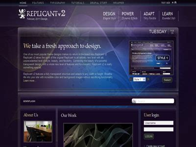 drupal theme with background image replicant v2 drupal theme drupal transparent background