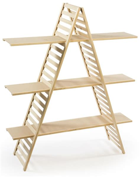 a frame shelf pine wood with 3 tiers
