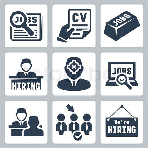 Vector Jobsuche , Jobsuche , Personal  Icons