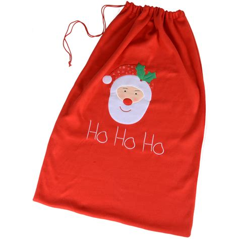 giant 60cm x 100cm red christmas santa claus gift sack bag