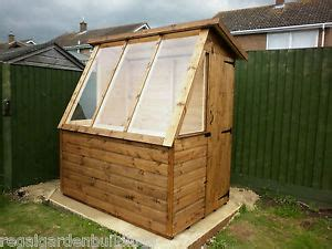 Sheds With Free Fitting by 6x4 Quality T G Wooden Greenhouse Potting Shed Ebay