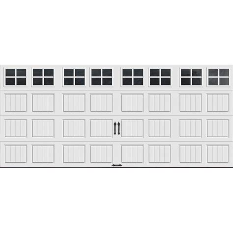 R Value Garage Door Clopay Gallery Collection 16 Ft X 7 Ft 18 4 R Value Intellicore Insulated White Garage Door