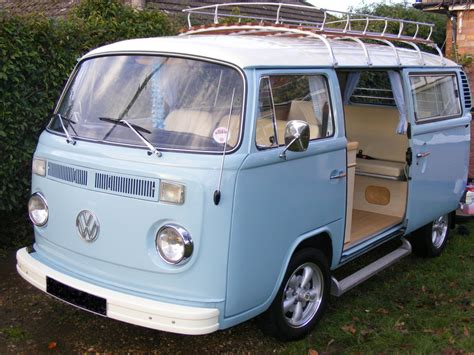 blue volkswagen van reduced vw t2 bay window cervan pristine condition