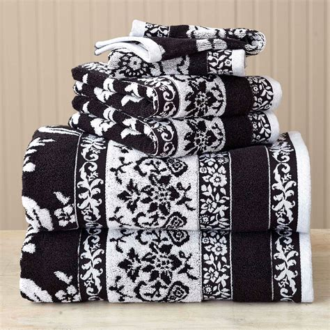 Black And White Bathroom Towel Sets by Black And White Bathroom Towel Sets Bathroom Designs