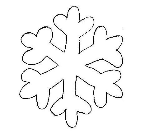 snowflake template clipart best