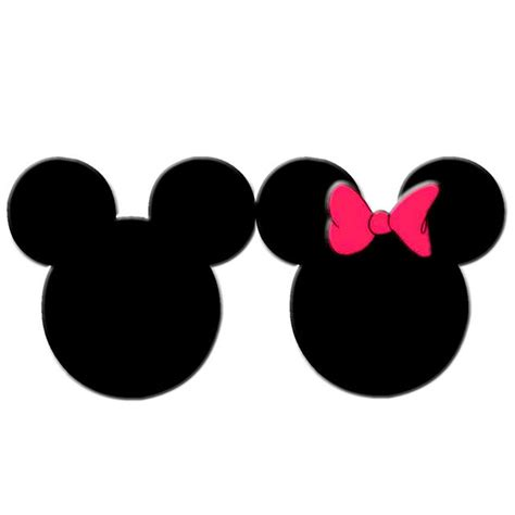 mickey head template cliparts