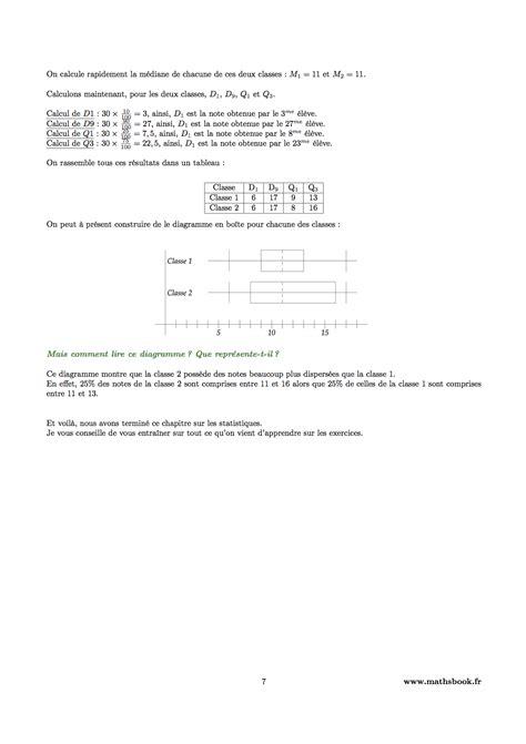 diagramme en boite en ligne statistiques cours pdf 224 imprimer maths premi 232 re s