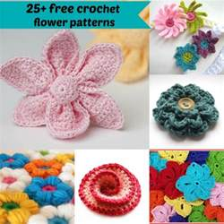 Free Easy Flower Crochet Patterns - 25 free easy crochet flowers patterns