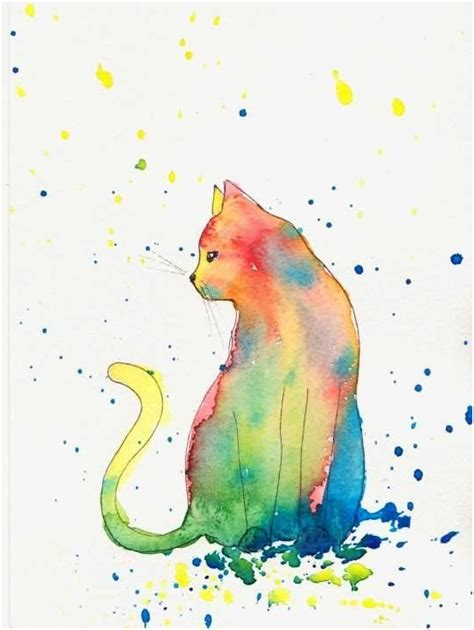 printable watercolor art cat wall art cat posters and images for the interior